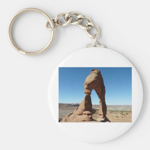delicate arch side view keychains