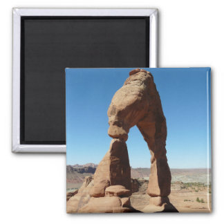 delicate arch side view fridge magnets