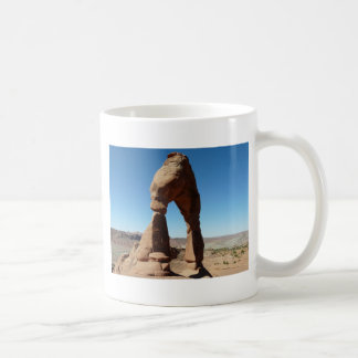 delicate arch side view coffee mug