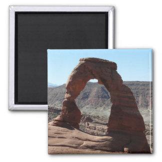 delicate arch square magnet