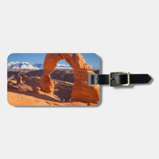 Delicate Arch With The Lasalle Mountains Beyond Tag For Bags