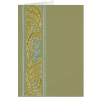 Delicate Art Nouveau Card