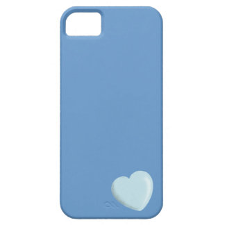 DELICATE BABY BLUE ROUNDED HEART BOY SWEET LOVE iPhone 5/5S COVERS