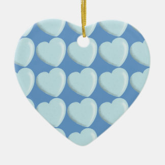 DELICATE BABY BLUE ROUNDED HEART BOY SWEET LOVE ORNAMENT