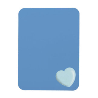 DELICATE BABY BLUE ROUNDED HEART BOY SWEET LOVE RECTANGLE MAGNETS