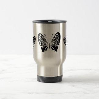 Delicate Black Butterflies Travel Mug