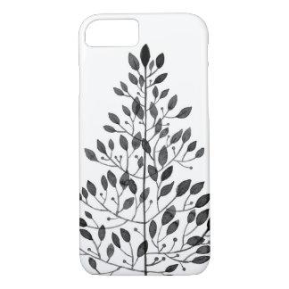 delicate black floral pattern iPhone 8/7 case