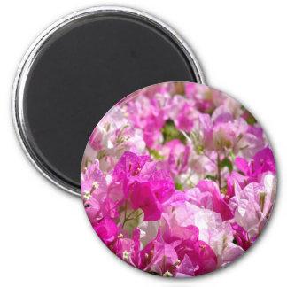 Delicate Blossoms 6 Cm Round Magnet
