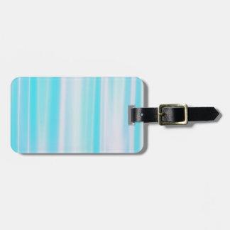 Delicate Blue Striped Luggage Tag