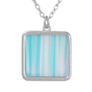 Delicate Blue Striped Silver Plated Necklace