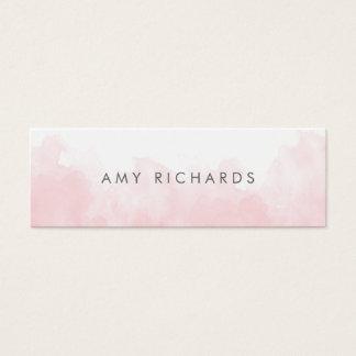 Delicate Blush Pink Watercolor Elegant Pastel Mini Business Card