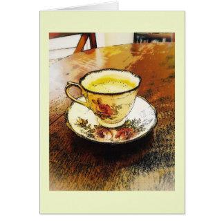 Delicate bone China teacup Card