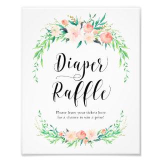 Delicate Bouquet Diaper Raffle Print Photographic Print