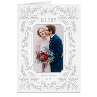 Delicate Branches Folded Holiday Greeting Card
