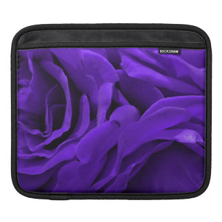Delicate bright purple roses floral photo iPad sleeve
