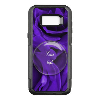 Delicate bright purple roses floral photo OtterBox commuter samsung galaxy s8+ case