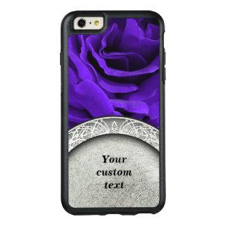 Delicate bright purple roses floral photo OtterBox iPhone 6/6s plus case