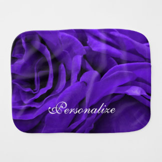 Delicate bright purple roses flower photo burp cloth