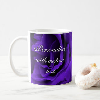 Delicate bright purple roses flower photo coffee mug