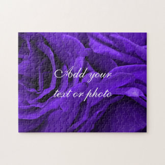 Delicate bright purple roses flower photo jigsaw puzzle