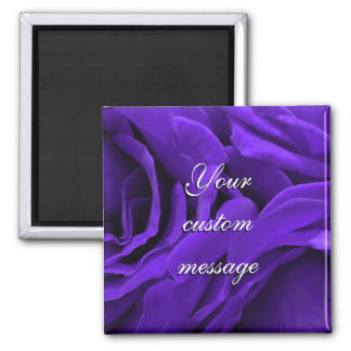 Delicate bright purple roses flower photo magnet