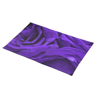 Delicate bright purple roses flower photo placemat
