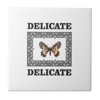 delicate butterfly art ceramic tile