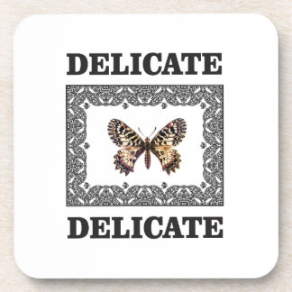 delicate butterfly art coaster