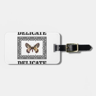 delicate butterfly art luggage tag