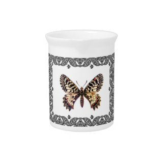 delicate butterfly art pitcher