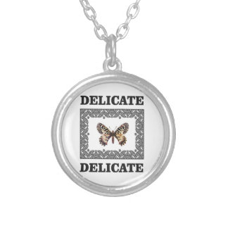 delicate butterfly art silver plated necklace