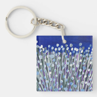 Delicate Charm Double-Sided Square Acrylic Key Ring