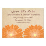 Delicate Daisies Save the Date Invite, Orange