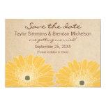 Delicate Daisies Save the Date Invite, Yellow 13 Cm X 18 Cm Invitation Card