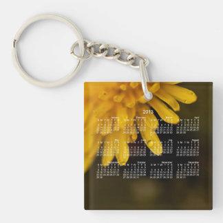 Delicate Dandelion; 2013 Calendar Single-Sided Square Acrylic Key Ring