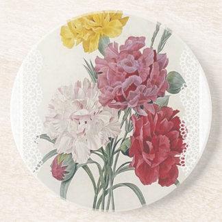 Delicate Dianthus Coaster