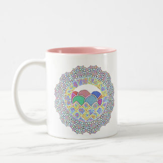 delicate doily Easter basket mug