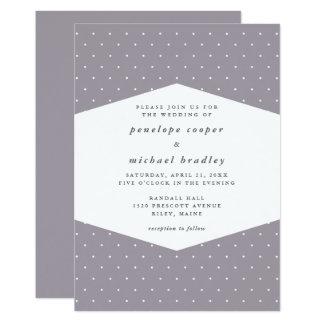 Delicate Dots Soft Purple Wedding Card