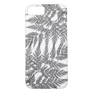 Delicate Fern Black and White Silhouette iPhone 7 Case