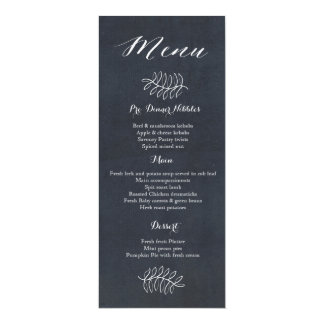 Delicate Floral Chalkboard Wedding Suite Card