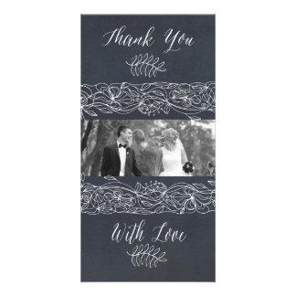 Delicate Floral Chalkboard Wedding Suite Card