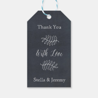 Delicate Floral Chalkboard Wedding Suite Gift Tags