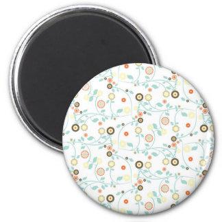 Delicate floral design magnets