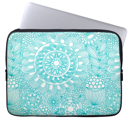 delicate floral lattice pattern laptop sleeve