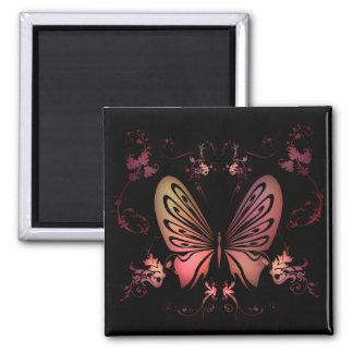 Delicate Floral Square Magnet