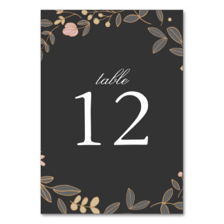 Delicate Floral Table Number