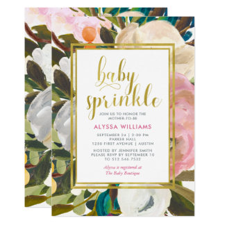 Delicate Floral Watercolor | Baby Sprinkle Card