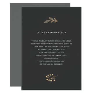 Delicate Floral Wedding Insert Card