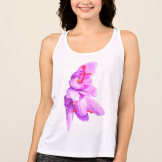 Delicate Flower. Customize with your own text! Singlet