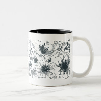 Delicate Flower Drawing mug